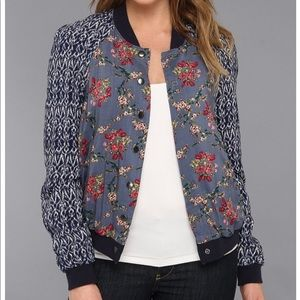 Free People | Floral & Ikat Bomber Jacket
